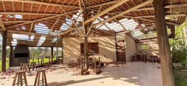 Defesa Civil de Siderópolis contabiliza estragos causados por Ciclone Extratropical