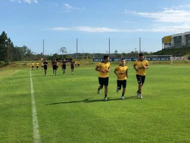 Grupo de atletas de Criciúma se reapresentou nesta quarta-feira