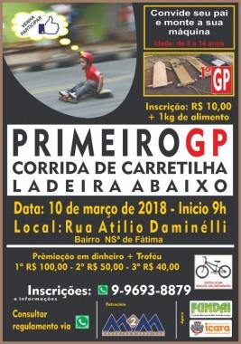 Moradores organizam corrida de carretilha no Nossa Senhora de Fátima