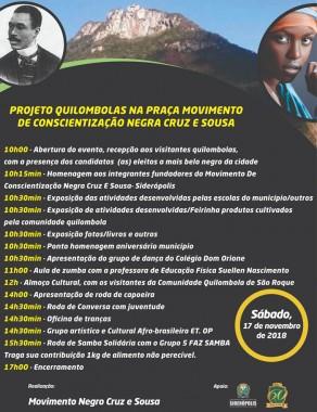 Siderópolis receberá visita de quilombolas neste sábado