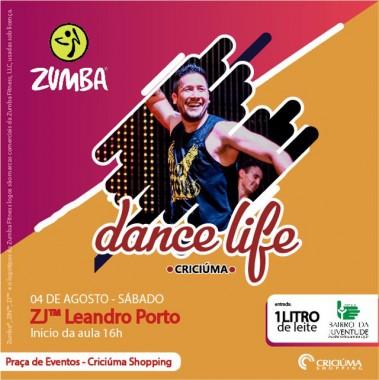 Criciúma Shopping recebe aulão beneficente de Zumba
