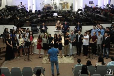 Culto de jovens para Deus foi celebrado no Templo Sede AD Içara