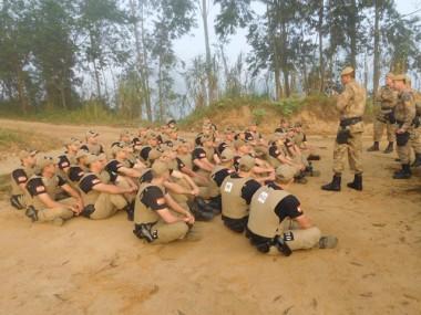Policiais Militares do PPT ministram instrução em Braço do Norte