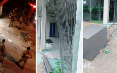 Bandidos arrombam agência bancária e abandonam cofre