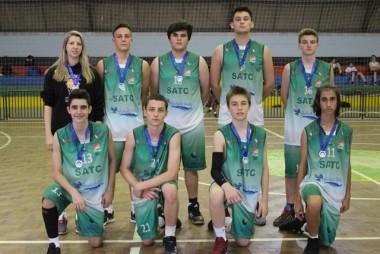 Um time de basquete formador de atletas da Satc