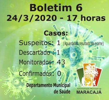 Caso suspeito de coronavírus em Maracajá é descartado pelo Lacen