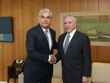 Moreira articula com Temer repasse de R$ 20 milhões para Saúde
