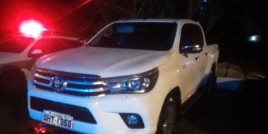 PM de Içara recupera caminhonete minutos após assalto em Criciúma