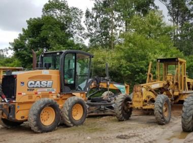 Chuva intensa dificulta recuperação de estradas em Lauro Müller