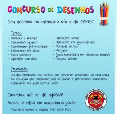 Corpo de Bombeiros lança concurso de desenho nas escolas