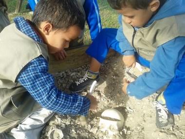 Aventura arqueológica transforma crianças em 'arqueólogos'