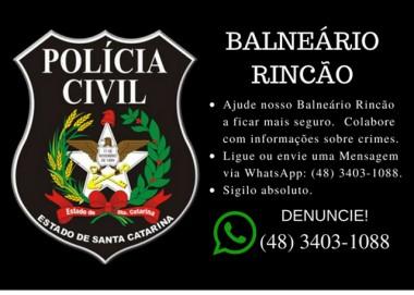 Polícia Civil do Rincão cria canal de denúncia via WhatsApp