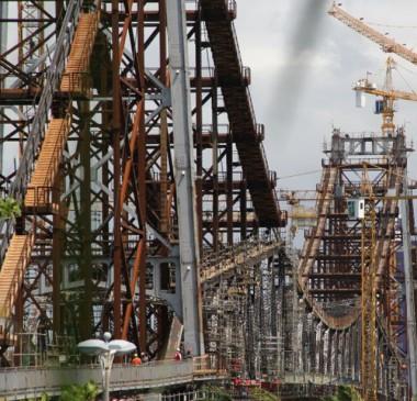 Nova etapa da transferência de carga da Ponte Hercílio Luz