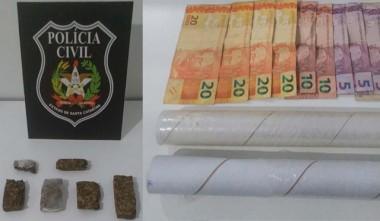 Polícia Civil prende jovem por tráfico em Vila Nova