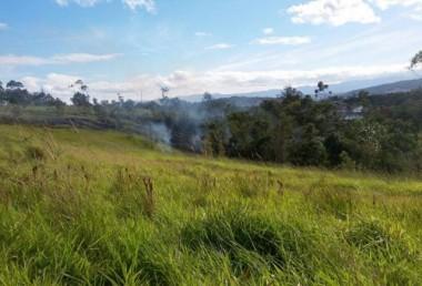 Incêndio consome vegetação entre o Mareli e Antônio Lima