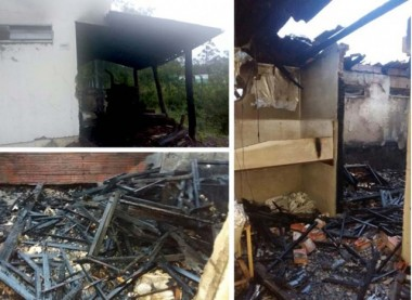 Fábrica de massas tem estrutura parcialmente atingida por incêndio