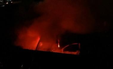 Veículo pega fogo após acidente na BR-101 em Içara