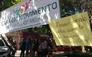 Continua manifestação contra projeto do Cosip