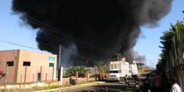 Unidade da Cristalcopos é atingida por incêndio