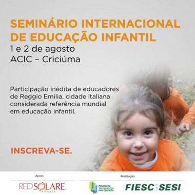 SESI promove seminário internacional de educação infantil