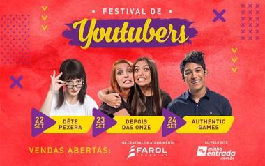 Youtubers de destaque nacional chegam ao Farol Shopping