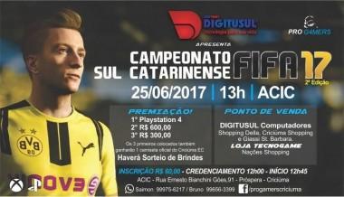 Inscrições abertas para o Campeonato Sul Catarinense de FIFA 17