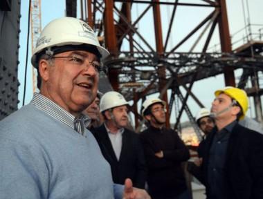 Governador e secretários visitam obras na Ponte Hercílio Luz