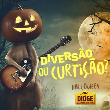 Didge festeja o Halloween nesta sexta-feira com a banda Locomtiva Lunar