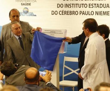 Temer promete terminar obra do Instituto do Cérebro do Rio