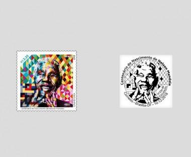Correios lança selo especial do centenário do nascimento de Nelson Mandela