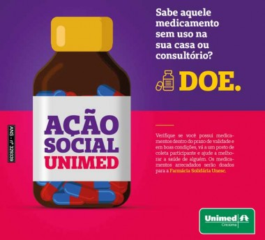 Hospital Unimed Criciúma apoia o projeto Farmácia Solidária