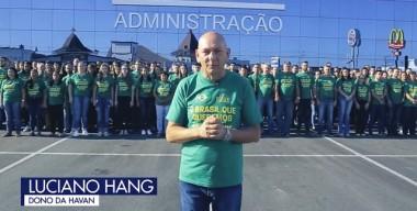 Luciano Hang quer pintar o Brasil de verde e amarelo