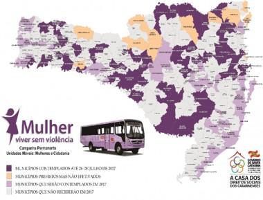 """Ônibus do """"Mulher: Viver sem violência"""" atende mais de 2,5 mil"""