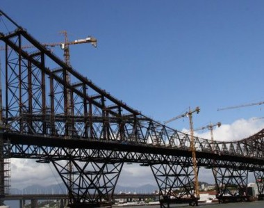 Obras na Ponte Hercílio Luz entram em uma nova etapa nesta segunda