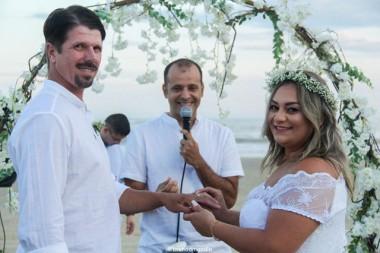 Wagner Ortolan e Rose Cardoso oficializam união em Morro dos Conventos