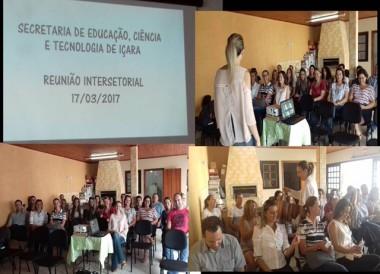 Gerusa realiza a reunião intersetorial da Educação