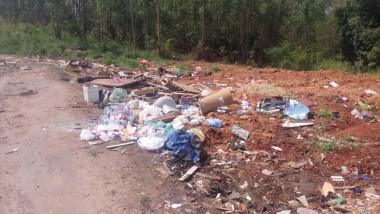 Anel Viário volta a ser usado como lixão em Içara