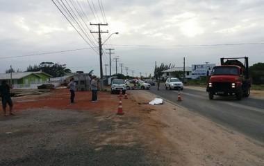 Homem morre após atropelamento na SC-445