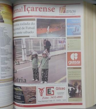 Jornal Içarense registra seus 23 anos de história em Içara