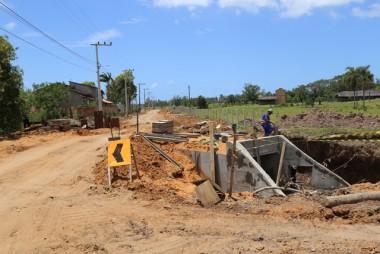 Obras de drenagem preparam a Rodovia ICR-354