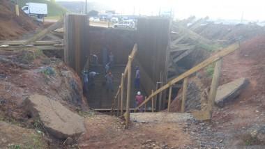 Construção do viaduto na Rodovia SC-445 segue na programação