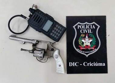 Polícia Militar apreende arma de fogo e munições em Içara