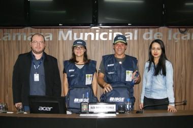 Legislativo recebe equipe do IBGE na Câmara de Içara