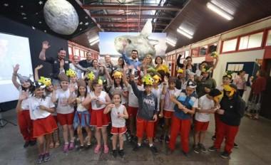 Crianças celebram chegada do Peixe-lua ao Museu da Unesc