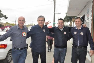 Moreira reforça campanha de Jairo e Luiz em Balneário Rincão