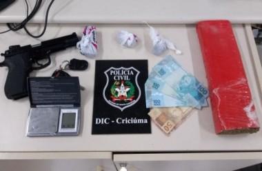 Polícia Civil prende traficante em flagrante em Criciúma