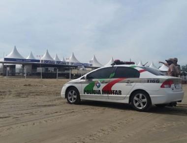 PM monta aparato para a segurança na Arrancada de Caminhões