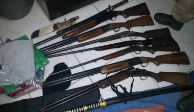 Polícia recupera armas que foram roubadas em Içara