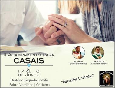 Grupo de Oração organiza 2º Acampamento para Casais