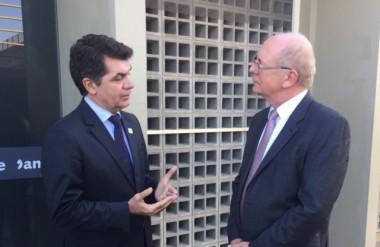 Salvaro e o senador Bauer em longa conversa sobre 2018